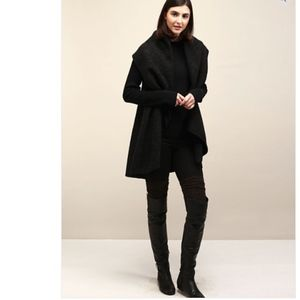 NWT Shawl Vest Black